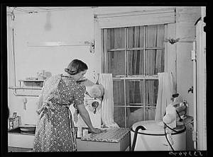 1950s Housewife in Kitchen