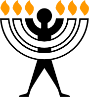 The Humanorah, a symbol of Humanistic Judaism