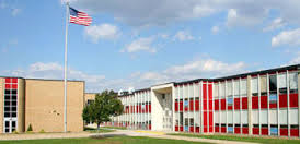 PHS. The middle school, Pennsauken Middle School, is most unfortunately PMS.
