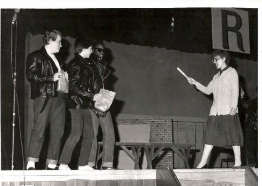 Me, as Miss Lynch in Grease, at Pennsauken High School in 1986.